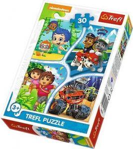 Trefl puzzle  30 dílků  - Nickelodeon - Multi - koláž   - 18227