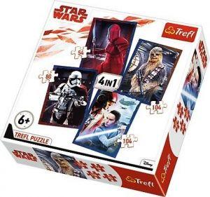 Trefl Puzzle 34277 Star Wars VIII -  4v1  54 80  a 2 x  104 dílků