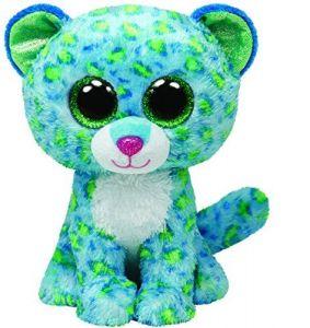TY Beanie Boos - Leona - modrý leopard  34102  - 24 cm plyšák