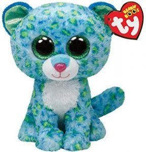 TY Beanie Boos - Leona - modrý leopard  36817 - 42 cm plyšák
