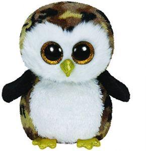 TY Beanie Boos - Owliver - černá sova 36991 - 24 cm plyšák