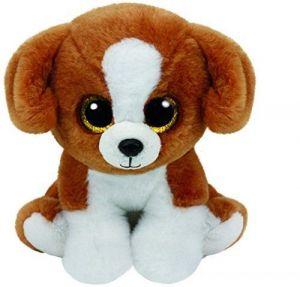 TY Beanie Boos - Snicky - hnědo-bílý pejsek   42182 - 15 cm plyšák