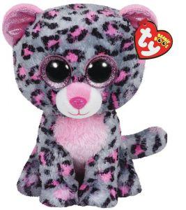 TY Beanie Boos - Tasha - růžovo-šedý leopard  37038 - 24 cm plyšák