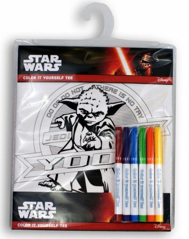 Tričko k vymalování Shellbag - Star Wars - Yoda na 7 - 8 let