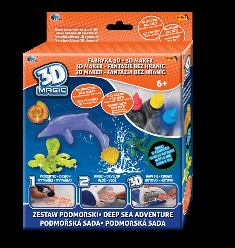 EP Line 3D Magic - tématická sada - podmořská sada s gelem svítícím ve tmě Epee a EP Line