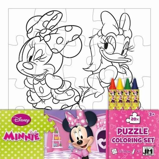 Jiri Models Omalovánky puzzle s voskovkami - Minnie