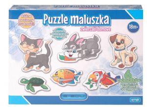puzzle ARTYK - pro nejmenší 3 x 4 + 3 x 2 dílky - domácí zvířátka 129919