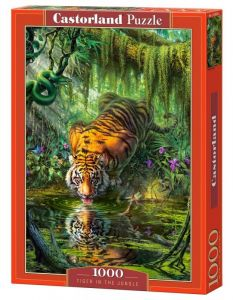 Puzzle Castorland  1000 dílků -  Tygr v džungli    103935
