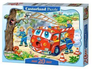 Puzzle Castorland 20 dílků podlahové - MAXI - Hasiči   02146