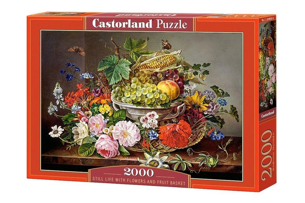 Puzzle Castorland 2000 dílků Zátiší s květinami a ovocem 200658