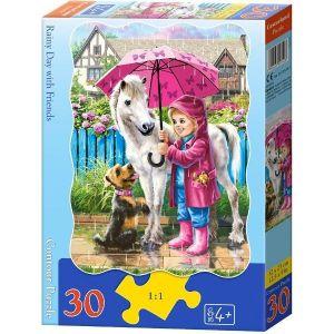 Puzzle Castorland  30 dílků - Deštivý den    03426