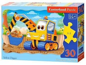 Puzzle Castorland  30 dílků - Žlutý bagr   03464