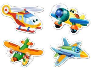 Puzzle Castorland 4v1 = 3-9 dílků  Letadla   005048