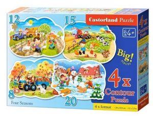 Puzzle Castorland 4v1 = 8-20 dílků   Čtvero ročních období    043019