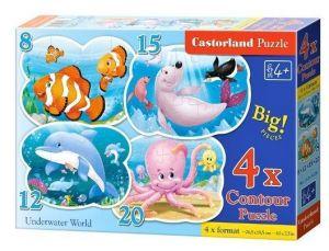 Puzzle Castorland 4v1 = 8-20 dílků  Podvodní svět   043026