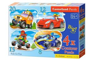 Puzzle Castorland 4v1 = 8-20 dílků  Vozidla    043057