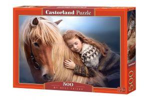 Puzzle Castorland 500 dílků -   Kůň - nejlepší přítel    52899