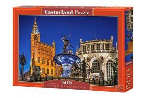 Puzzle Castorland 500 dílků -  Neptunova fontána Gdaňsk     52936
