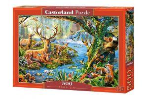 Puzzle Castorland 500 dílků -  Život v lese    52929