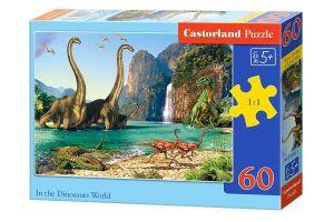 Puzzle Castorland 60 dílků - Ve světě dinosaurů - 06922
