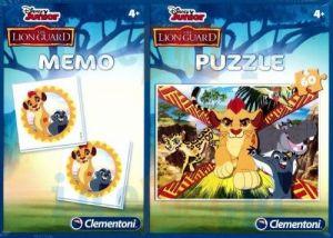 Puzzle Clementoni 60  dílků + Memos ( pexeso ) - Lví hlídka  07912