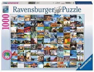 Puzzle Ravensburger 1000 dílků - 99 nádherných míst v USA a Kanadě   197095