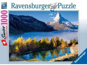 Puzzle Ravensburger 1000 dílků - Jezero pod štítem hory   193509