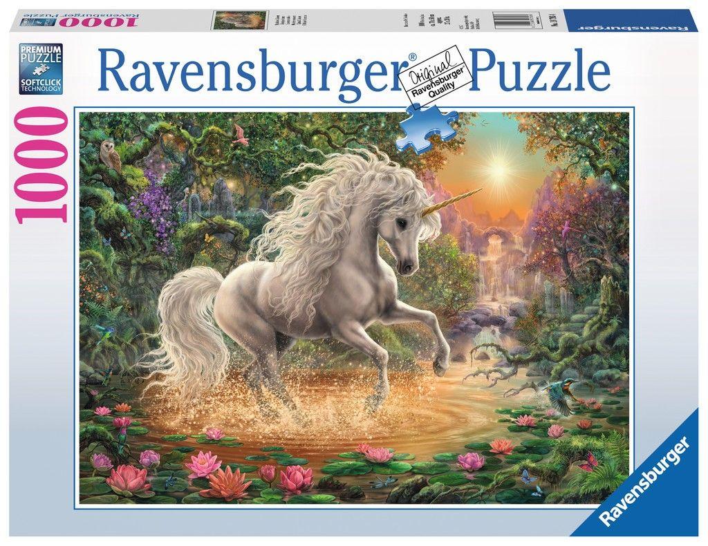 Puzzle Ravensburger 1000 dílků - Mystický jednorožec 197934