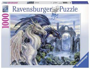 Puzzle Ravensburger 1000 dílků - Mystičtí draci 196388