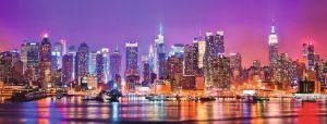 Puzzle Ravensburger 1000 dílků panorama - Manhattan v noci 50768