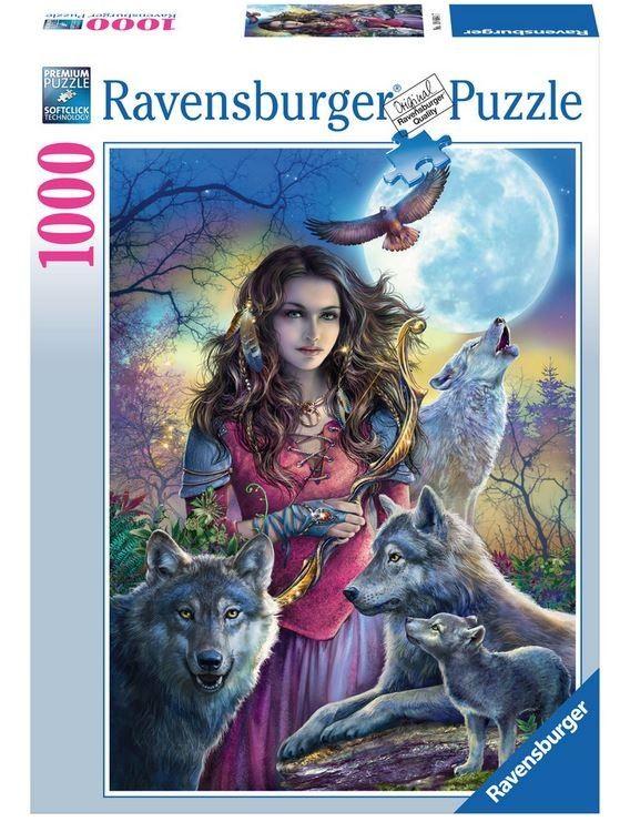 Puzzle Ravensburger 1000 dílků - Patronka vlků vlků 196647