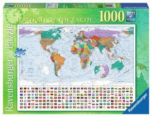 Puzzle Ravensburger 1000 dílků - Portrét země   192885