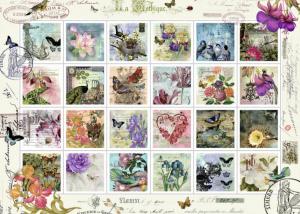 Puzzle Ravensburger 1000 dílků - Poštovní známky 196074