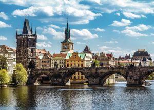 Puzzle Ravensburger 1000 dílků - Praha - Karlův most 197422