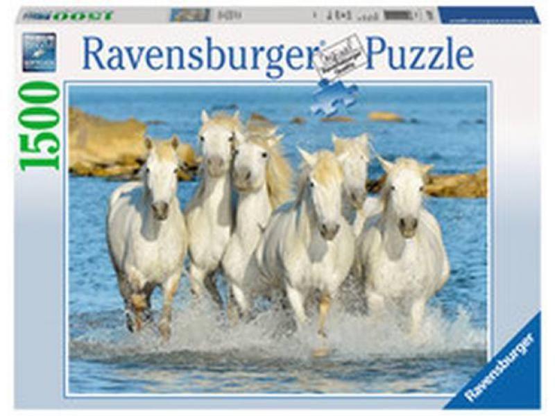 puzzle Ravensburger 1500 dílků - koně - osvěžující běh 162857
