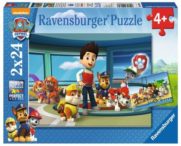 Puzzle Ravensburger 2x24 dílků Psí hlídková patrola 090853