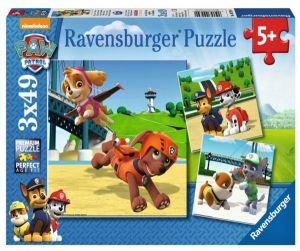 Puzzle Ravensburger  3 x 49 dílků  - Psí tlapková patrola   092390