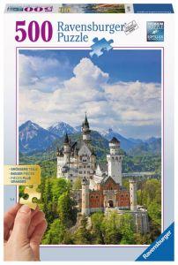 puzzle Ravensburger 500 dílků - Neuschwanstein  136810