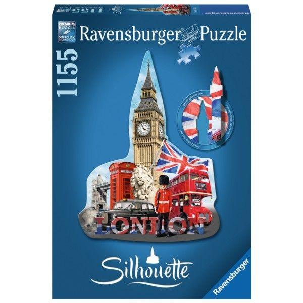 puzzle Ravensburger - tvarové 1155 dílků - Big Ben Londýn 161553