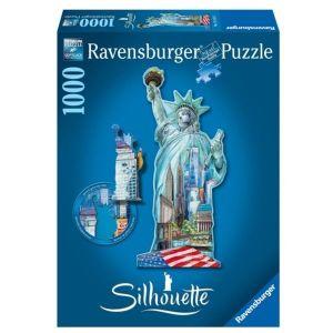 puzzle Ravensburger - tvarové 1000 dílků - Socha Svobody  161515