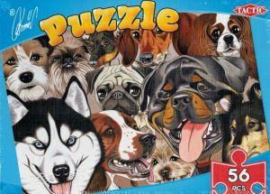 puzzle TACTIC - 56 dílků - karikatůry psů a koček - psi A