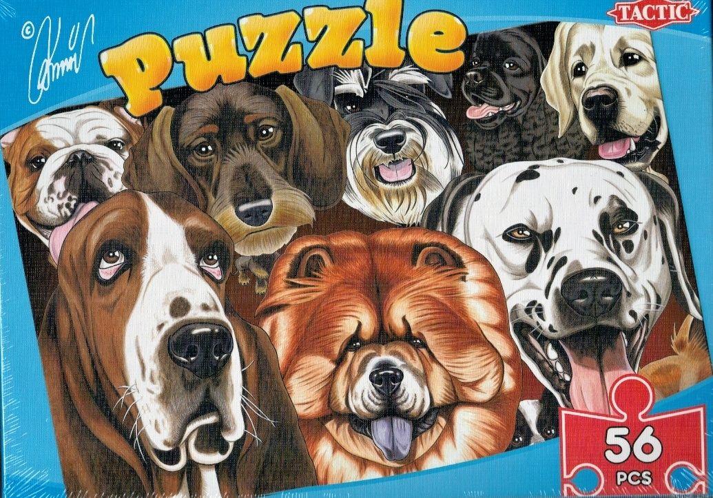 puzzle TACTIC - 56 dílků - karikatůry psů a koček - psi B
