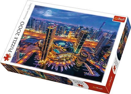 Puzzle Trefl 2000 dílků - Světla Dubaje 27094