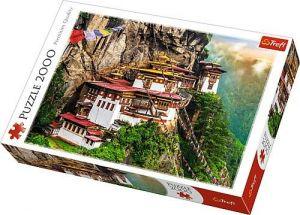 Puzzle Trefl 2000 dílků - Tygří hnízdo Bhután  27092