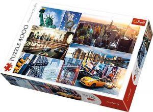Puzzle TREFL 4000 dílků - New York - koláž   45006