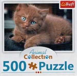 Puzzle Trefl  500 dílků  - Animal Coll. - Hnědé koťátko    91538
