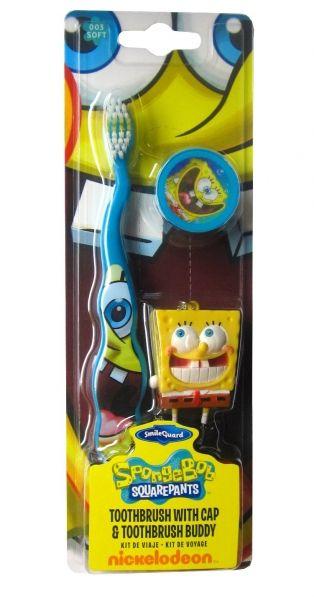 SpongeBob - zubní kartáček s krytkou + přívěšek na klíče Epee a EP Line
