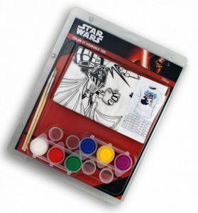 Tričko k vymalování Shellbag  s barvičkami  - Star Wars  -  na  7 - 8 let