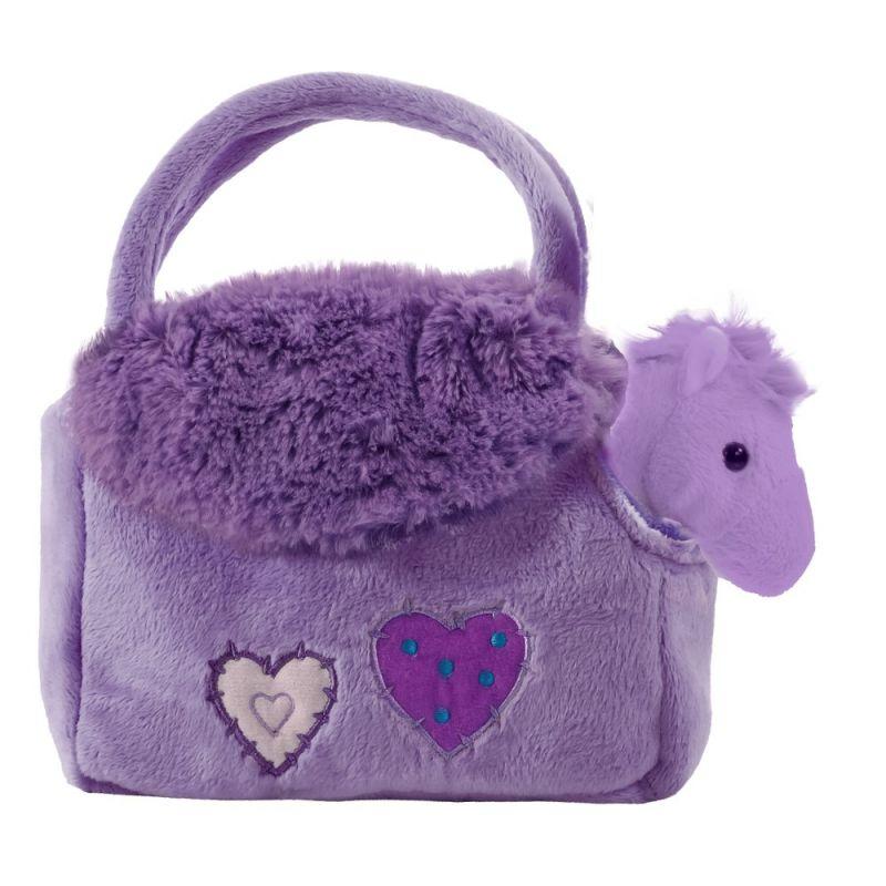 BEPPE - plyšová kabelka fialová s koníčkem uvnitř 13194