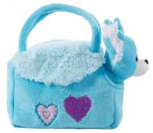 BEPPE -  plyšová kabelka modrá  s pejskem  uvnitř  13192
